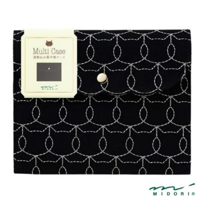 MIDORI 小物雜貨-萬用收納包-小貓黑