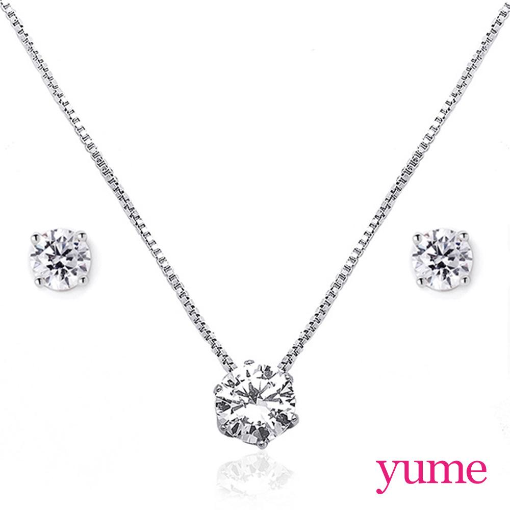 YUME - 克拉戀人套組(項鍊+耳環)
