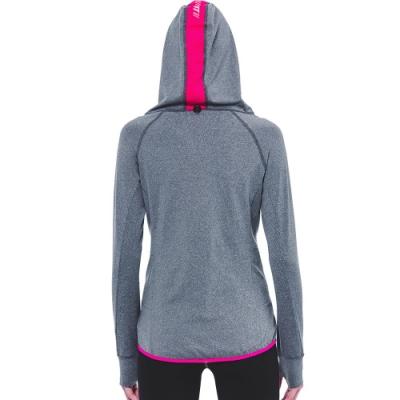 SUPERACE S.Café 咖啡紗內刷毛保暖層跑步外套 / 女款 / 灰色