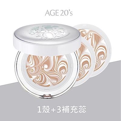 AGE20 s 女神光鑽爆水粉餅1空殼+3粉蕊(SPF50+PA+++)