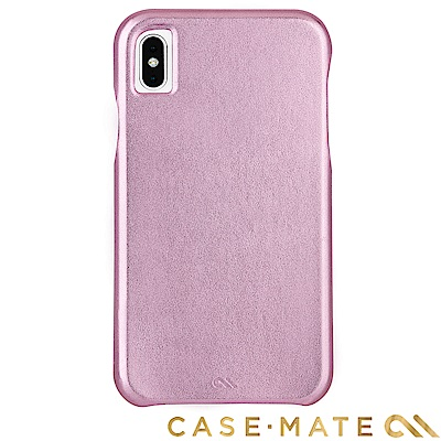 美國Case-Mate iPhone XS Max 簡約超薄真皮手機殼 -粉金色