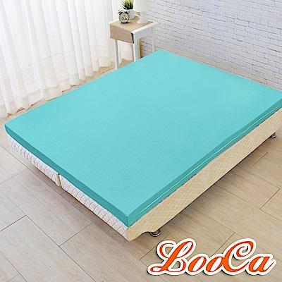 (超值釋壓組)LooCa 法國防蹣防蚊輕釋壓8cm記憶床墊+萬用午安枕x2-加大6尺