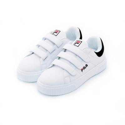 FILA 女性潮流復古鞋-白/黑 5-C601T-011