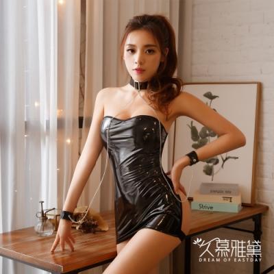 性感睡衣 捆綁型性感鏤空皮革時尚緊身連身裙 久慕雅黛
