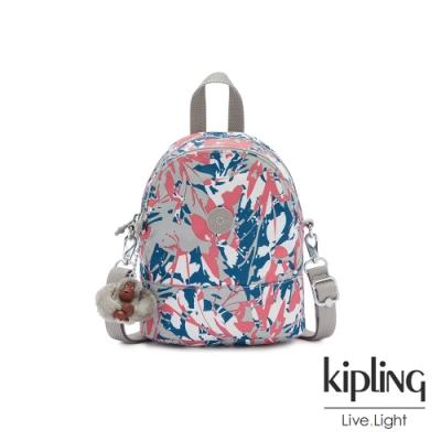 Kipling 碰撞魅力潑墨隨身兩用斜背包-IVES MINI