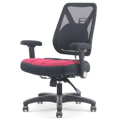 DR. AIR 新款升降椅背人體工學氣墊辦公網椅-紅