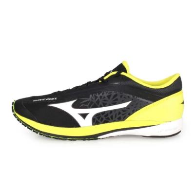 MIZUNO 男 路跑鞋 WAVE DUEL 黑白黃