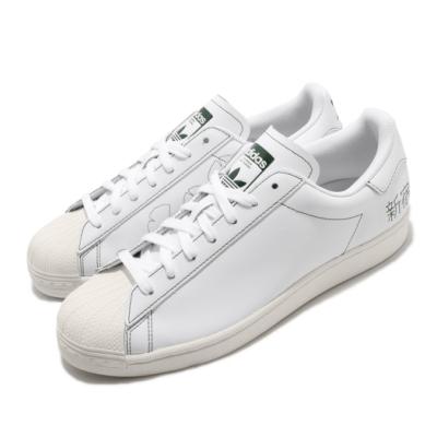 adidas 休閒鞋 Superstar Pure 男鞋 愛迪達 三葉草 貝殼頭 新宿 皮革 白 綠 FV2835