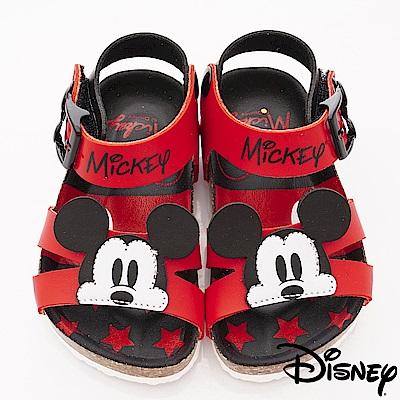 迪士尼童鞋 米奇軟木拖鞋款 ON19392黑紅(中小童段)