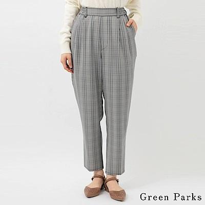 Green Parks 氣質時尚格紋錐形褲