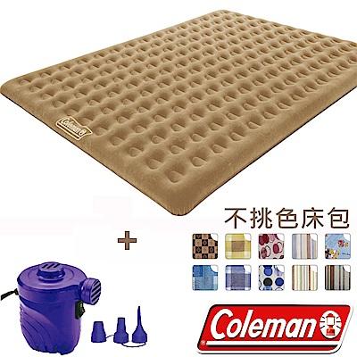Coleman N607 充氣睡墊270+電動打氣幫浦+床包組 露營床/充氣床/露營