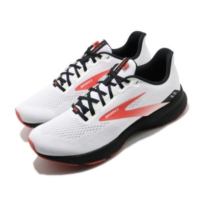 Brooks 慢跑鞋 Launch 8 運動 男鞋 路跑 緩震 DNA科技 透氣 健身 球鞋 白 紅 1103581D198