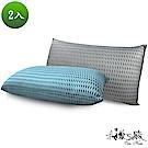 精靈工廠 4D透氣銀離子抑菌獨立筒枕2入