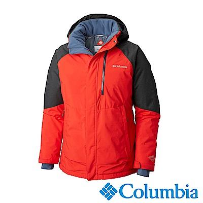 Columbia哥倫比亞 男款-Omni-HEAT保暖防水連帽外套-紅色