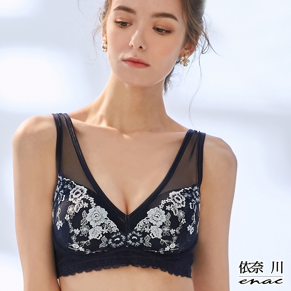 限量!!enac 依奈川 韓國時尚戀上花語無鋼圈內衣(3件組-隨機)