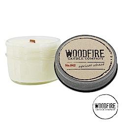 美國 WOODFIRE 復古純手工木芯香氛 NO.042 麥子杏桃花 鋁蓋玻璃罐 113g