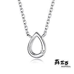 蘇菲亞 SOPHIA - 水滴造型純銀套鍊