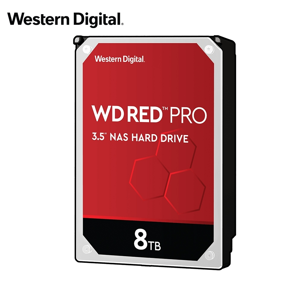 WD 旗艦紅標 8TB 3.5吋 NAS硬碟(WD8003FFBX)