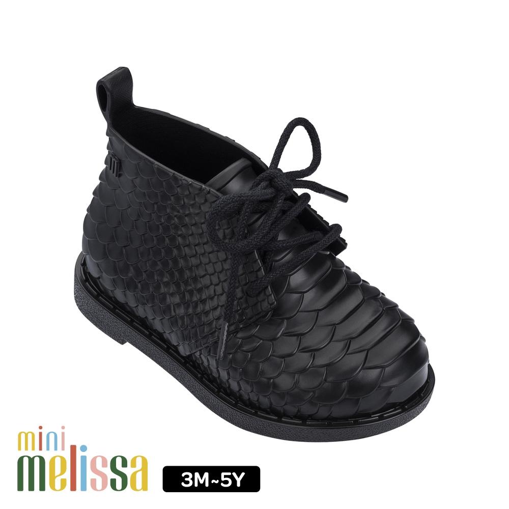 Melissa 凸紋質低筒靴 寶寶款 黑