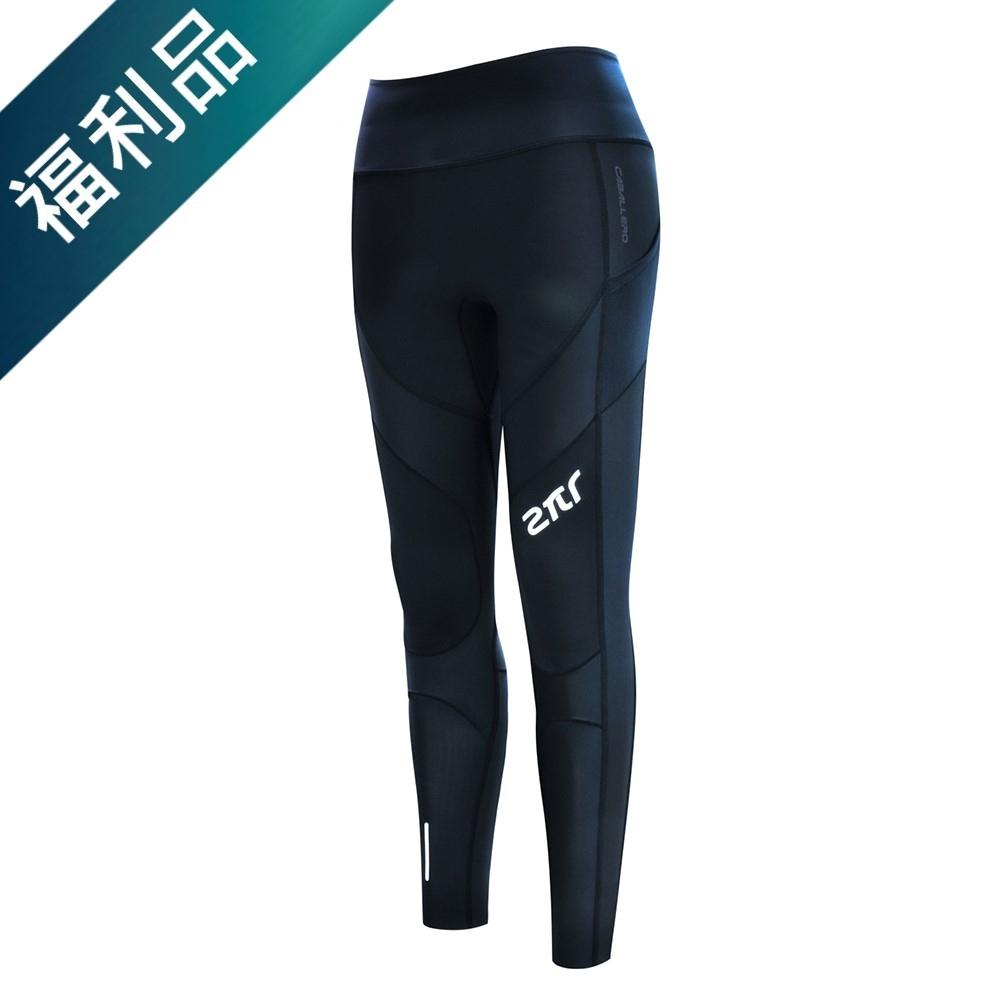 【2PIR】福利品-女款3D立體支撐壓力褲 皓月白