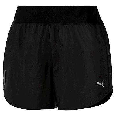 PUMA-女性慢跑系列4吋短風褲-黑色-歐規