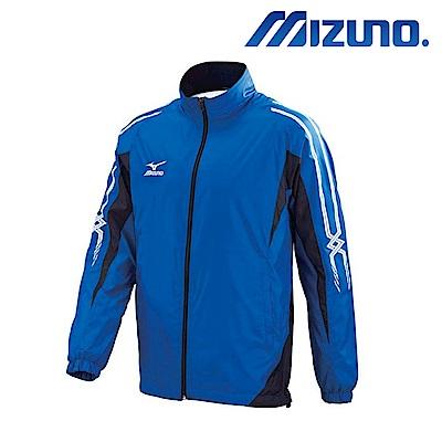 MIZUNO 美津濃 男風衣套裝上衣 法國藍X黑 32TE758922