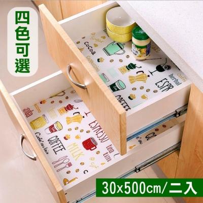 【挪威森林】日本熱銷防潮抽屜櫥櫃墊-格紋款(30x500cm 二入)
