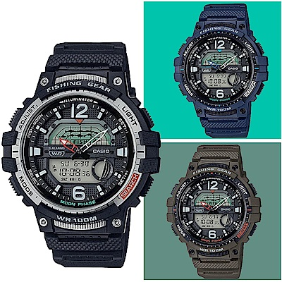 CASIO卡西歐 釣魚活動概念設計手錶(WSC-1250H-多色任選