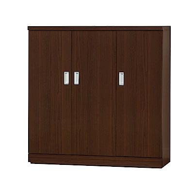 綠活居 達尼時尚4尺木紋三門鞋櫃/玄關櫃-120x39x123cm-免組