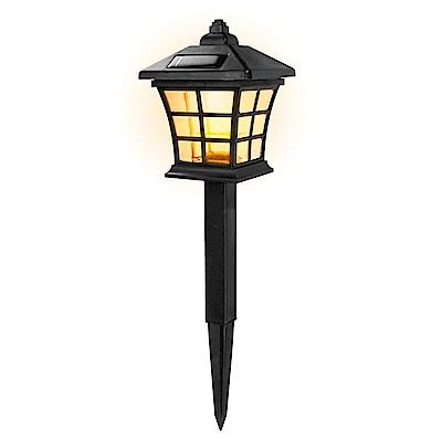 KINYO 太陽能防潑水光控黃光LED庭園燈