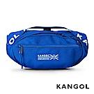 KANGOL LIBERTY系列 韓版潮流LOGO背帶腰包-藍色 KG1191