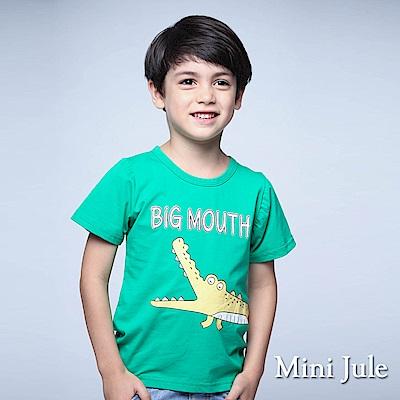 Mini Jule 童裝 上衣 黃鱷魚立體尾巴短袖上衣(綠)
