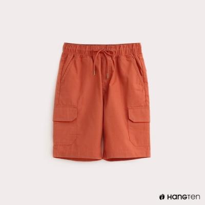Hang Ten-ThermoContro-童裝鬆緊綁帶機能短褲-橘