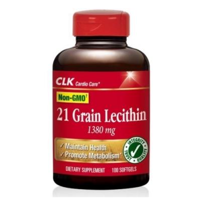 CLK健生 卵磷脂軟膠囊 100粒 (使用荷蘭非基因改造卵磷脂原料,美國原裝進口)