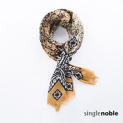 獨身貴族 復古況味自然紋理圖騰圍巾(2色)