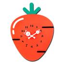 療癒系 居家擺飾 紅蘿蔔造型 餐廳客廳臥室兒童房 靜音掛鐘 - 紅色