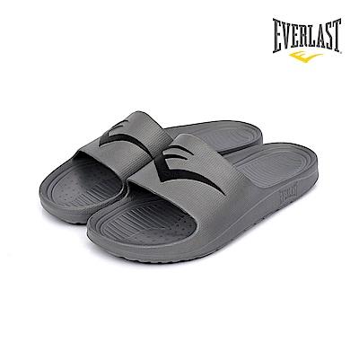 EVERLAST 品牌經典LOGO拖鞋-男-灰