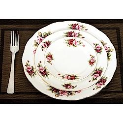 Royal Duke 玫瑰園骨瓷西式圓盤/餐盤3件組(經典英式玫瑰風格)