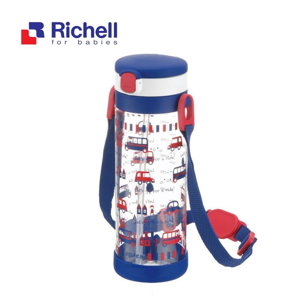 【Richell 利其爾】第一代LC 450ml 吸管式冷水壺 - 貝克街 【附背帶】