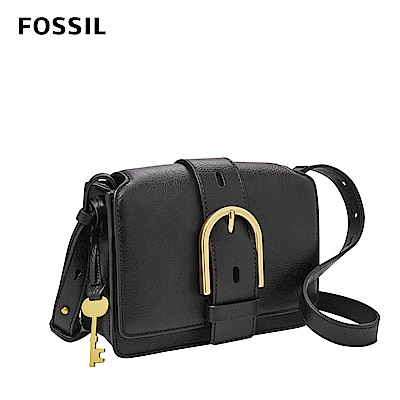 FOSSIL 母親節優惠 WILEY真皮復古美型側背包-黑色 ZB7885001