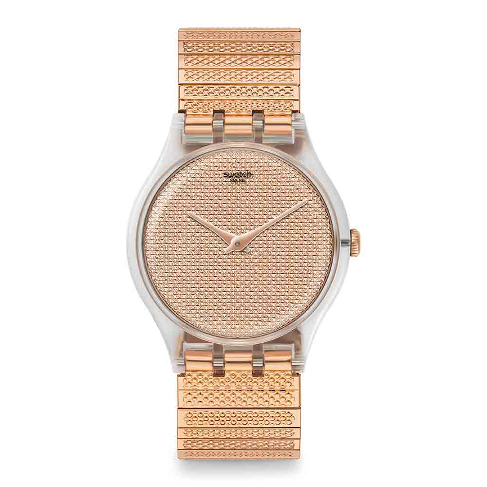 Swatch Deep Wonder系列 POUDREUSE L木質巧思手錶