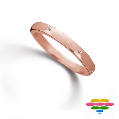 彩糖鑽工坊 18K 玫瑰金 鑽石戒指 Truly Love 系列