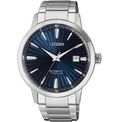 (無卡分期6期)CITIZEN星辰輕熟雅痞機械錶(NJ2180-89L)-藍
