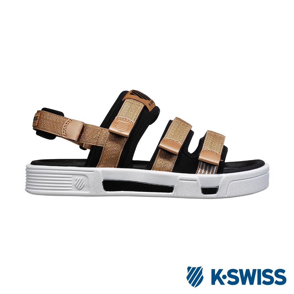 K-SWISS Trini Strap Sandal 休閒涼鞋-男-香檳金/黑