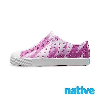 native 大童鞋 JEFFERSON 小奶油頭鞋-櫻花粉