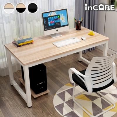 【Incare】加厚加固鋼木辦公桌(100*60*74cm/三款任選)