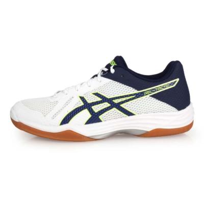 ASICS GEL-TACTIC 男排羽球鞋-排球 羽球  白深藍綠