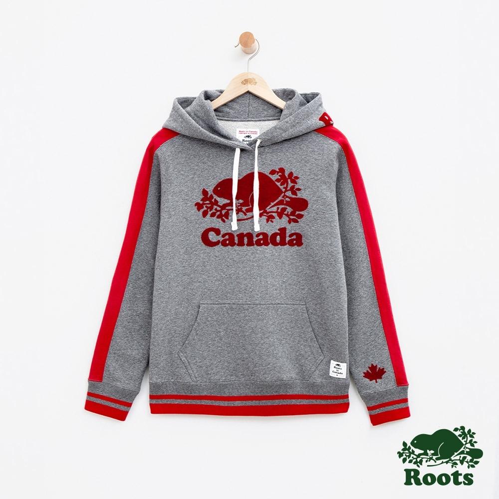 女裝Roots加拿大系列-海狸連帽上衣-灰色