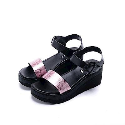 nonno 諾諾 亮彩時尚厚底涼鞋 粉