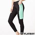 PLAYBOY 拼接撞色輕壓力瑜珈長褲(PL6618004)